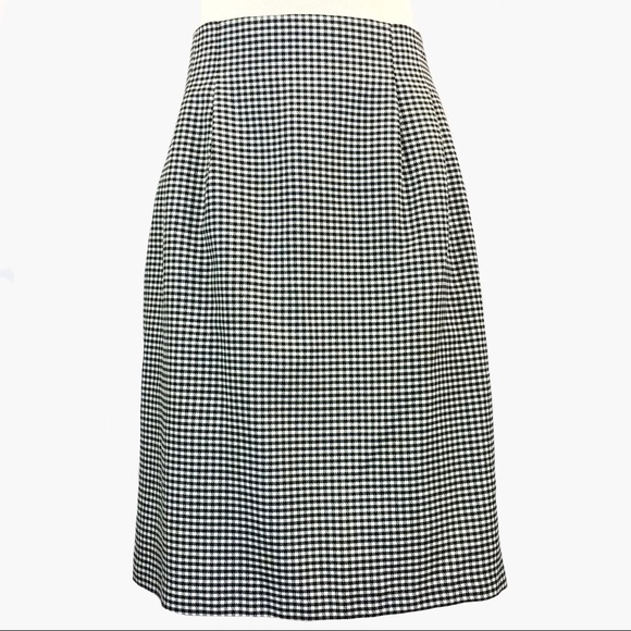 Vintage Dresses & Skirts - Vintage High Waisted Black & White Gingham Skirt